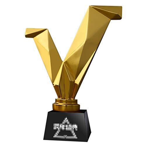 Trofei, medaglie e premi Annuale Premi Sportivo d'oro Resina Decorazione Dell'ufficio Enterprise Dipendenti Eccellenti (Color : Gold, Size : 16 * 23CM)