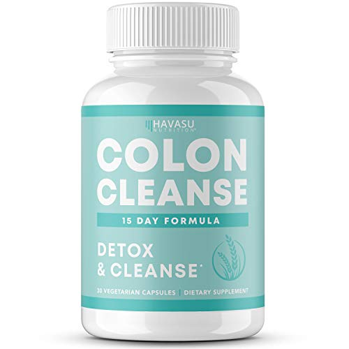 Colon Cleanse for Detox and Weight Loss 15 Day Fast-Acting Extra-Strength Detox Cleanse and Natural Laxative for Constipation Relief, Bloating Relief, and Full Body Detox 30 Vegetarian Detox Pills