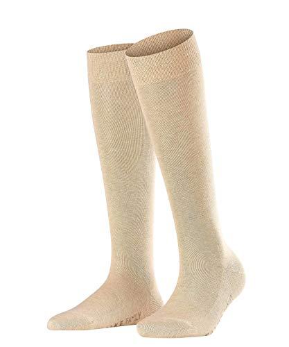 FALKE Damen Kniestrümpfe Family - 94% Baumwolle, 1 Paar, Beige (Sand Melange 4659), Größe: 39-42