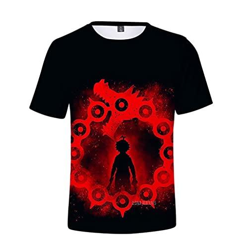 Camiseta Anime Meliodas The Seven Deadly Sins camiseta com estampa 3D casual manga curta manga curta meninos, 1, XXG