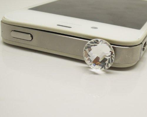 선물은 그 또는 그녀의 1 개 스와로브스키 크리스탈 셀룰라 전화 이어폰 잭 이어폰 잭 ANTIDUST 플러그인의 매력이폰 4 4S 4G 5 5C 삼성 전자 HTC 노키아 셀룰라 전화 매력을(클리어)