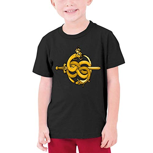 XCNGG Niños Tops Camisetas Neverending Adventuri Black Other Boys and Girls Short Sleeve T-Shirts, Youth T-Shirts