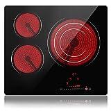 Placa de vitrocerámica, Placa de cocción vitrocerámica (3 fogones)