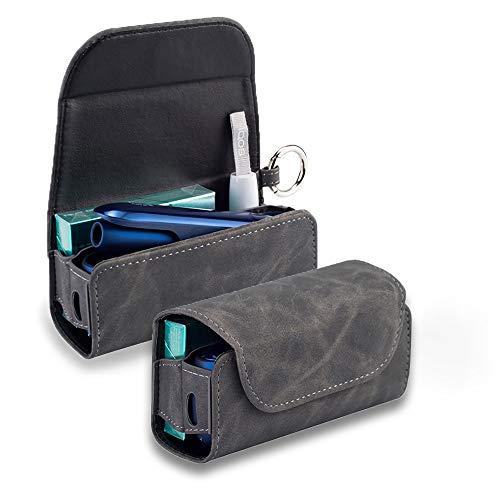 アイコス3ケース iqos3 ケース IQOS3 DUO 専用ケース IQOS3.0 電子たばこ IQOS3 キット 保護ケース 革 カバー レザーケース おしゃれ (ダメージグレー)