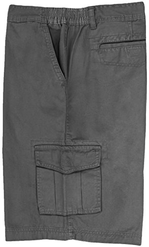Full Blue Big Men's Cargo Shorts with Expandable Waist Size 52 Gray #872C