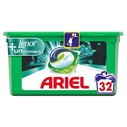 Ariel Touch of Lenor Unstoppables Waschmittel in Kapseln, 32 Waschgänge