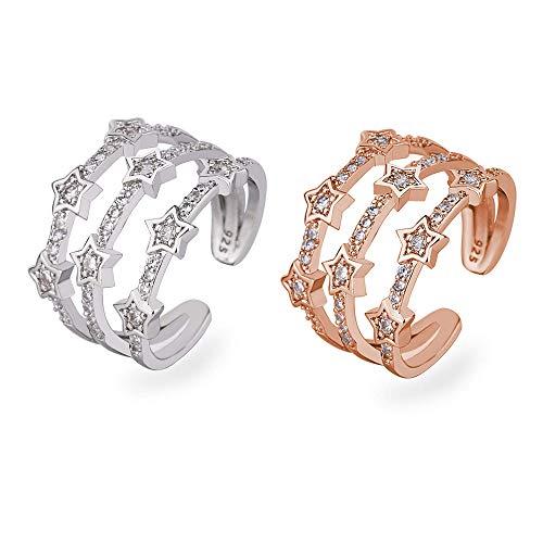 2 Stück Stern Ring, Geburtstagsgeschenk, Jubiläum