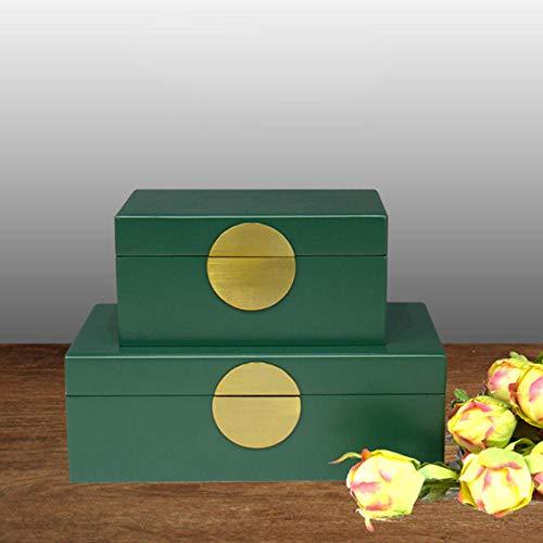 LIUJUAN Caja De Almacenamiento Minimalista Moderna Luz Verde Oscuro Blanco Accesorios para El Hogar Decoración Caja Decoración-Trompeta Verde 20 * 12 * 10 Cm_Trompeta 20 * 12 * 10Cm