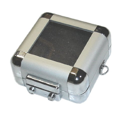 BEGADI dCase5: Mini Alukoffer/Minikoffer mit transp. Deckel, Slings & Schaumstoffen - 4x8x9,2cm