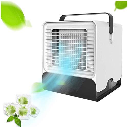 Yangm Draagbare airconditioner, 3-in-1, met handgreep, ventilator voor kantoor, draagbare koeler, luchtbevochtiger voor huis en keuken