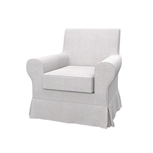 Soferia Ersatzbezug fur IKEA EKTORP JENNYLUND Sessel, Stoff Naturel White, Off-White