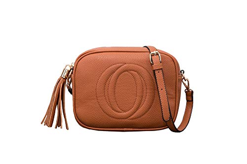 This Small Crossbody are made of PU leather. Tassel zipper top closure. Size: 8.6*6.3*4inch. Mini crossbody bag, Top zipper closure, high-quality hardware in Gold, with tassel design make this mini purse more fashionable and durable. it will be the p...