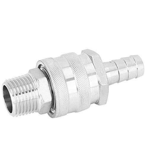 Púa de desconexión rápida impermeable, dispositivo de desconexión rápida de acero inoxidable NPT1 / 2in, para válvula de bola de enfriadores de mosto de placa