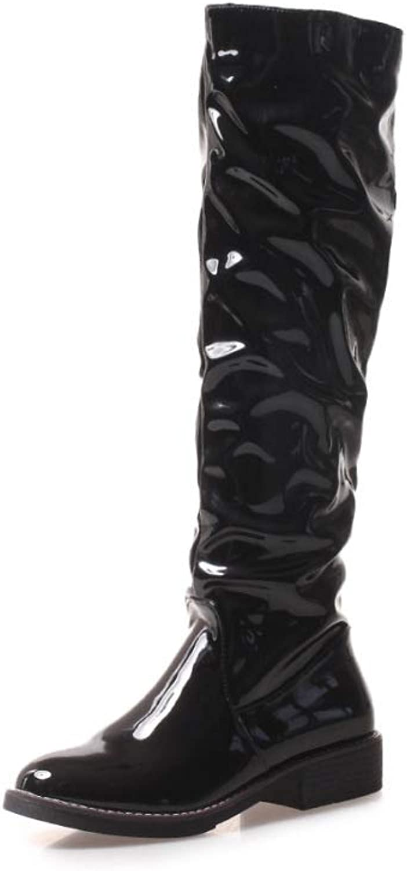 QINGMM damen damen damen Fashion Kniestiefel 2018 Herbst Winter New Bequeme Outdoor Knight Stiefel,Schwarz 2,42 EU B07JLGHMP5  Attraktive Mode 4f7928