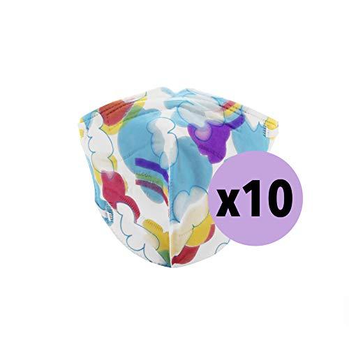 YIDA Pack 10 Mascarillas FFP2, Tamaño Pequeño, [Certificadas y Homologadas ] Desechables, 5 Capas. (M7) ⭐