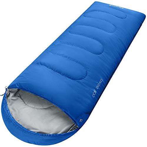 KingCamp Oasis - Saco de Dormir para 3 Temporadas, diseñado para Camping, Senderismo y Actividades al Aire Libre, Disponible en 4 tamaños, para niños, Adultos, Extra Grande y Extra Grande