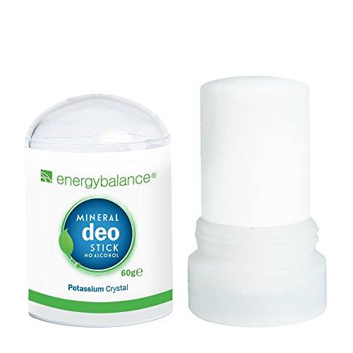 EnergyBalance Deo-Stick crystal 60g sin aluminio (cloruros de aluminio) - Para hombres y mujeres - Sin olor - Desodorante - Calidad de marca desde Suiza