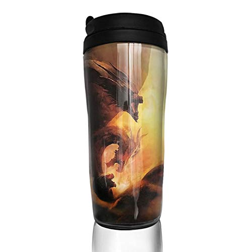 POLIAB Anime Godzilla King of The Monsters 350ml Coffee Cup,Portable Double Wall Vacuum Insulated Mugs, Unisex Tumbler Travel Mug, Thermos Cups for Women and Men