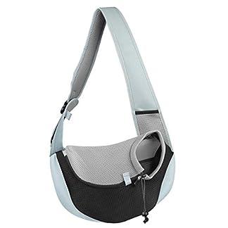 You Pet Dog Sling Carrier, Breathable Mesh Travelling Pet Hands-Free Sling Bag Adjustable Padded Strap Front Pouch Single Shoulder Bag for Dogs Cats 20
