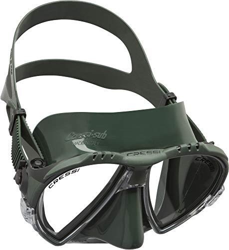 Cressi Matrix - Máscara de Buceo y Snorkeling, Talla única,Verde