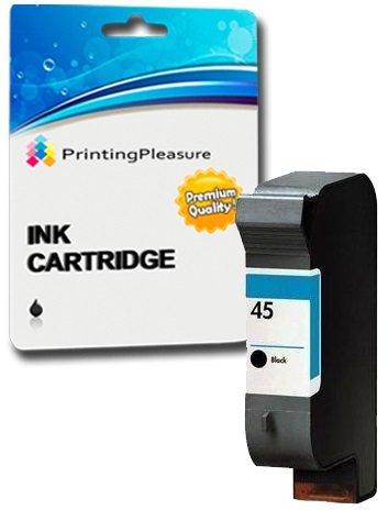 Printing Pleasure NEGRO Cartucho de tinta compatible para HP Deskjet 1120c 1120cxi 1120cse 1125c 710c 712c 720c 722c 815c 830c 880c 882c 890c 895cxi Copier 140 145 270 | Reemplazo para HP 45 (C6615DE)