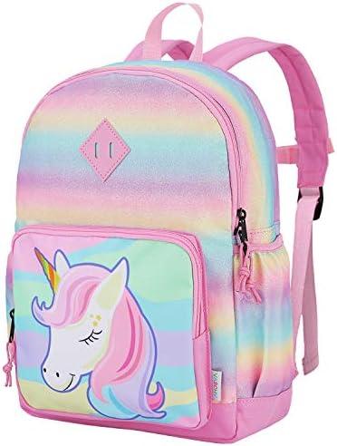 Unicorn Backpack for Little Girls VASCHY Cute Rainbow Glitter Lightweight Water Resistant Preschool product image