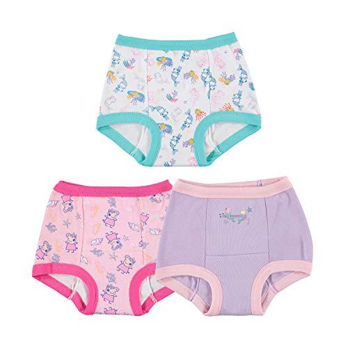 Peppa Pig Toddler Girls' 3pk Training Pant, Assorted Peppa, 3T