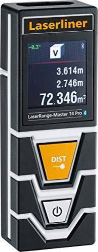 Laserliner LaserRange Entfernungsmesser Laser-Range-Master T4 Pro 080.850A, schwarz, orange, Weiß