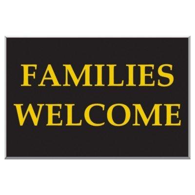 Extérieur Sign. de familles avec écriteau Welcome Noir &une teinte 400 x 600 mm (Code EW0.