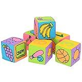 Lantro JS Baby Soft Baby Cloth Bausteine, Crisp Sounds Numbers Sichere Bausteine Spielzeug, für Schwimmbad Allgemeine Aktivitäten Badestrand(Color Box, Fabric Building Blocks)