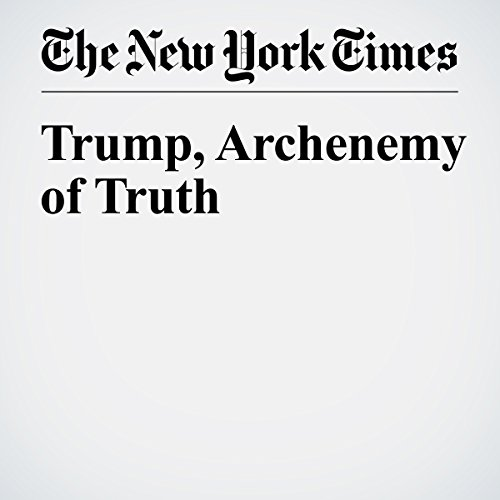 Trump, Archenemy of Truth copertina