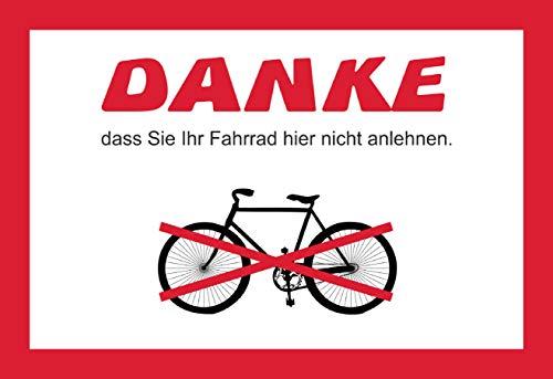 SCHILDER HIMMEL anpassbares Fahrrad nicht anlehnen Schild DIN A4 29x21cm Kunststoff mit Klebestreifen, Nr 5333 eigener Text/Bild verschiedene Größen/Materialien