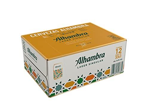 Mahou - Alhambra Especial Cerveza Dorada Lager, 5.4% Volumen de Alcohol - Pack de 12 x 33 cl