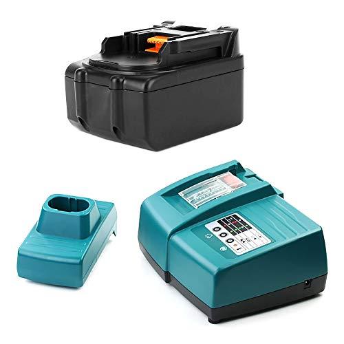 CELLONIC® Batería 18V, 4Ah, Li-Ion + Cargador Compatible con Makita BDF456RHJ, BSS610Z, DCL182Z, DHP453, DUR181Z - BL1830, BL1840, BL1850 bateria de Repuesto, Pila reemplazo Herramienta, sustitución