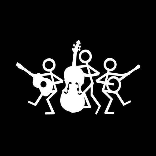A/X 17,7 * 10,6 CM Elegantes Pegatinas de Coche de música Country calcomanías de Vinilo Estilo de Coche de Dibujos Animados Negro/Plata C7-1444Plata