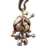 Collar de muñeca de vudú retro gótico, muñeca de vudú con collar movible,Colgante retro de personalidad lindo payaso muñeca collar-No_Chain