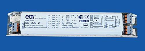 Multiwatt Vorschaltgerät EVG T5/T8 für 1 oder 2Röhren 18 bis 39Watt
