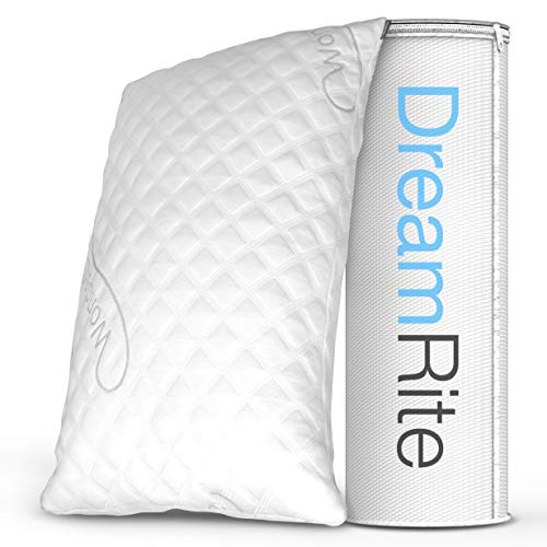 Dream Rite Shredded Hypoallergenic Memory Foam Pillow WonderSleep Series Luxury Adjustable Loft Home...