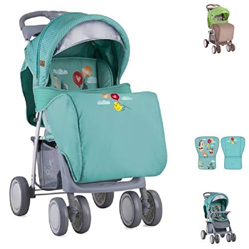 Lorelli Kinderwagen, Buggy Foxy, Fußabdeckung, Lehne verstellbar, Sonnendach grün
