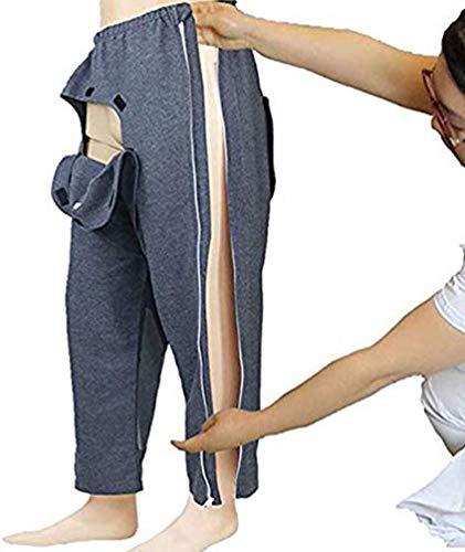 Miaoao-HL Pants Inkontinenz for Männer und Frauen, Erwachsene geöffnete Gabelung Hosen einfach abnutzen Paralysis, Convenient Katheter Stoma-Beutel Blase Anal Stoma-Hosen for Ältere und Patienten