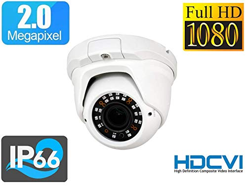 TELECAMERA Camera dome HDCVI 1080p Ottica Varifocale 2.7~13.5 mm WDR 3DNR IP66 1/3' Panasonic 2.0 Megapixel CMOS WDR, 3DNR, Menú OSD IR Array Distanza 30 m
