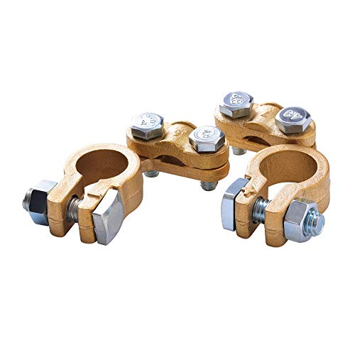 EnRise 12V/24V Hochwertiger Batterie Polklemmen Batterieklemmen Steckverbinder(1 Paar)