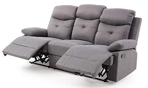 Glory Furniture Stadium Reclining Sofa, Gray. Living Room Furniture 40' H x 76' W x 37' D