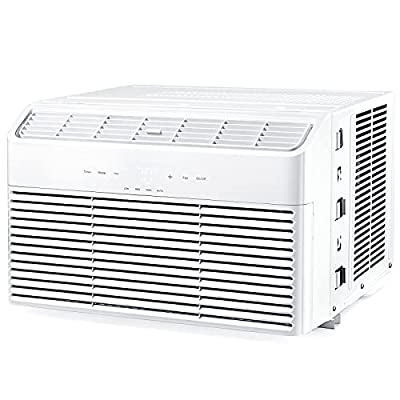 Window Air Conditioner 8000 BTU, Energy Star Extreme Quiet Window AC Unit with 4 Fan Speeds, Digital Display, Dehumidifier Mode, Sleep Mode, Timer, with Temperature Sensing Remote Control