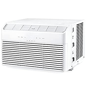 Window Air Conditioner 8000 BTU Energy Star Extreme Quiet Window AC Unit with 4 Fan Speeds Digital Display Dehumidifier Mode Sleep Mode Timer with Temperature Sensing Remote Control