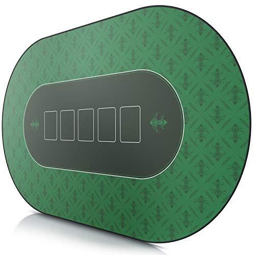 CSL - XXL Deluxe Pokermatte 1000x600mm - XXL Poker Unterlage Pokertisch mit Motiv - Tischunterlage Large Size - Pokertischauflage Green