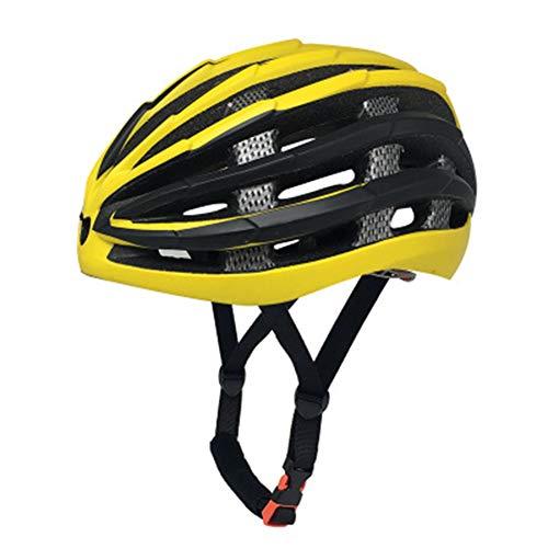 Outdoor Fahrradhelm Fahrradhelm Fahrradhelm Fahrradhelm Erwachsene Equipment Helm zertifizierter Helm, gelb, L(58