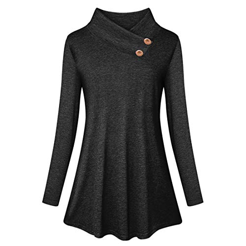 Women Shirt Autumn New Elegant Chic Sexy Classic Wild Holiday Long Sleeved Loose Comfortable Casual Fashion Vacation Women Tops Women Blouse Autumn Black_ XXL