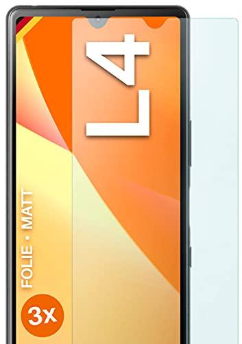 moex Schutzfolie matt kompatibel mit Sony Xperia L4 - Folie gegen Reflexionen, Anti Reflex Bildschirmschutz, Matte Bildschirmfolie - 3X Stück