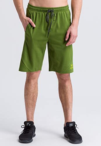 ERIMA Herren Shorts Essential Sweatshorts, twist of lime/lime pop, XL, 2081805